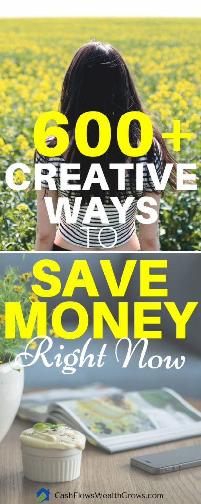 600+ Creative Ways To Save Money Right Now | Money Saving Tips | Personal Finance | Saving Money | Financial Independence |