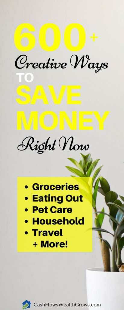600+ Creative Ways To Save Money Right Now | Money Saving Tips | Personal Finance |